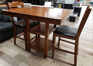 NEW Pub Height Dining Table & 2 Bar Stools w/ Defect for Sale in Burlington, NJ