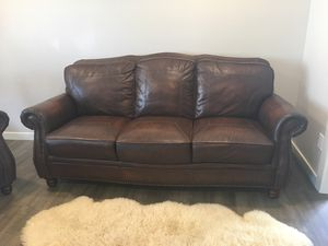 Leather couch and 2 chairs for Sale in Vancouver, WA