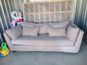 Gray couch for Sale in Yucca Valley, CA