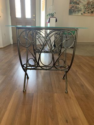 Glass and antique brass end tables for Sale in Gilbert, AZ
