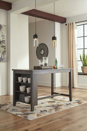 Ashley Furniture Counter Height Dining Table, Grey Finish for Sale in Fountain Valley, CA
