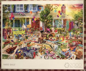 Jigsaw Puzzle 2000 piece Buffalo Games Yard Sale for Sale in San Diego, CA