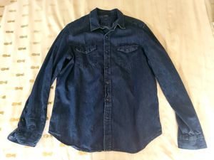 Large Gap denim long-sleeved button-down shirt for Sale in Las Vegas, NV