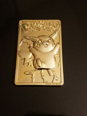 Gold Plated Pokemon Pikachu Card for Sale in Gig Harbor, WA
