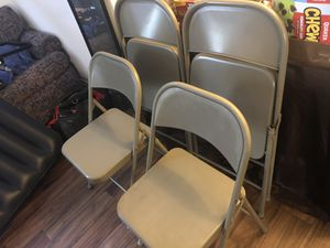 x4 Metal Fold Out Chairs for Sale in Las Vegas, NV