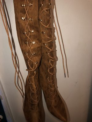 Badge Thigh High Boots for Sale in Detroit, MI