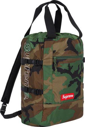 Supreme woodland camo tote backpack for Sale in Miami, FL