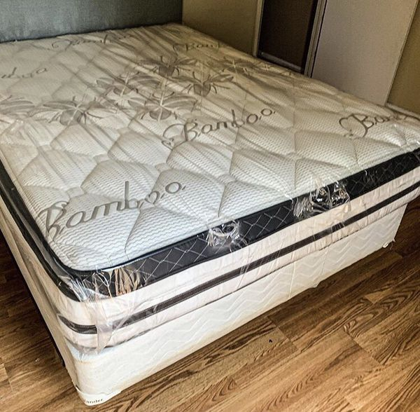 """🎋QUEEN SIZE PILLOW TOP MATTRESS 12"""" INCHES THICK BAMBOO BRAND ALL NEW🎋"""