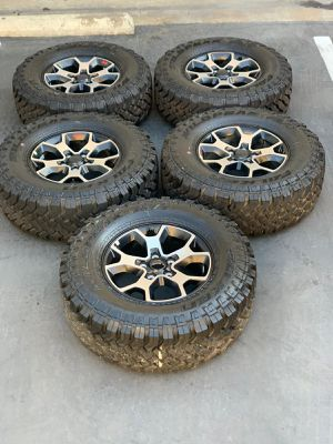 "17"" Jeep Wrangler Rubicon brand new wheels and tires for Sale in CA, US"
