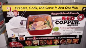 Slow cooker,Red Copper cooking pan,Party Serving Kit, Produce Saver Bowls, 8 Piece Serving Set for Sale in Imperial Beach, CA
