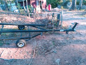 Jet ski trailer with brand new tires and folding neck for garage storage for Sale in College Park, GA