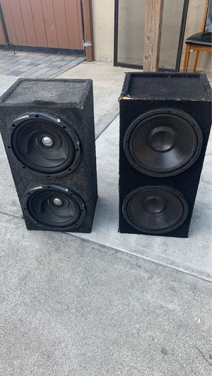 Kenwood 12 in and audio tech 12 in sub for Sale in San Leandro, CA