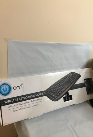 ONN Wireless Keyboard and Mouse for Sale in Locust Grove, GA