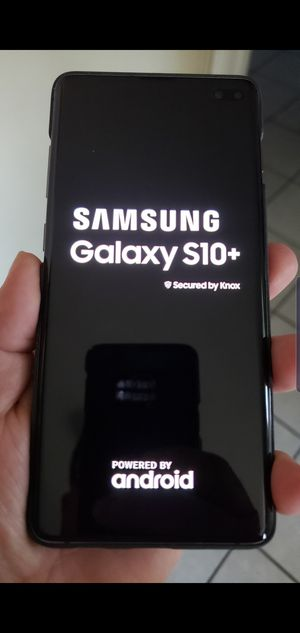 Samsung Galaxy S10 plus brand new 128 GB 8 ram unlocked for any Carrier no charger just the cellphone habló español for Sale in San Diego, CA