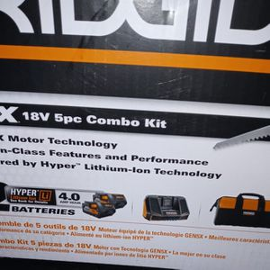 Brand new Ridgid 18v 5pc Combo Kit for Sale in Mesa, AZ