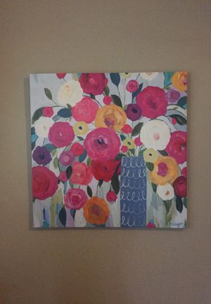 Square bright flowers in vase print for Sale in Richmond Heights, MO