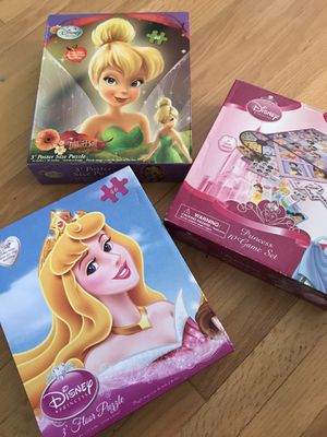 Puzzle 2ea and Disney princess Games for Sale in Canby, OR