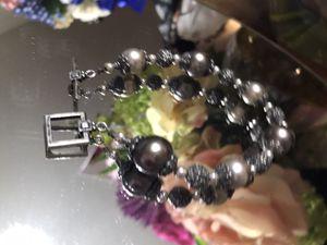 Pretty!!! Silver beaded Bracelet for Sale in Gainesville, VA