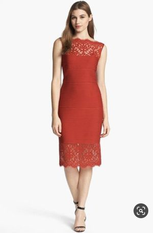 Tadashi Soji red dress large- worn once from Nordstrom for Sale in Osseo, MN
