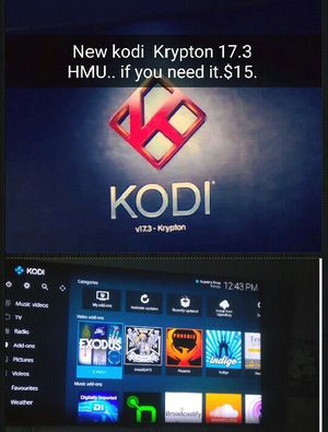KODI KRYPTON UPDATE FOR FIRESTICKS OR ANDROID DEVICE for Sale in Bakersfield, CA