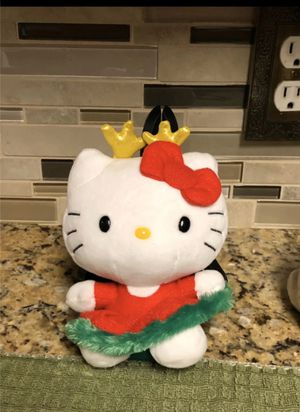Ty beanie babies hello Kitty Christmas dress with antlers for Sale in Dallas, TX