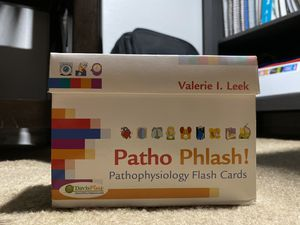 Pathophysiology Flash Cards By: Valerie I. Leek for Sale in Anaheim, CA