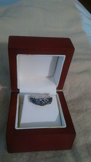 Black sterling silver stamped 925 ring. Size 7 for Sale in Richardson, TX
