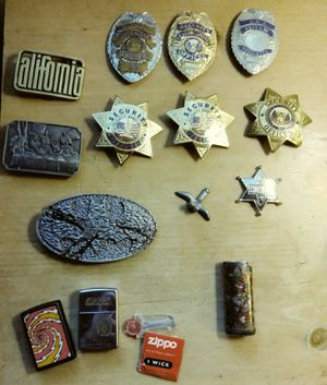 Buckles, Badges, Lighters, and accessories vintage for Sale in Pomona, CA