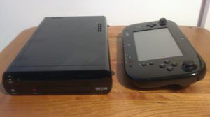 Wii U (Black 32gb) + 6 games for Sale in Homestead, PA