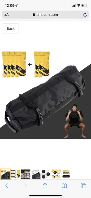 Estleys Workout Sandbag for Fitness 10 to 40 Lbs, Adjustable Military Sandbags with 4 and 2 Inner Bags, Training Weight Bags, Full Body Exercise Equi for Sale in Irving, TX