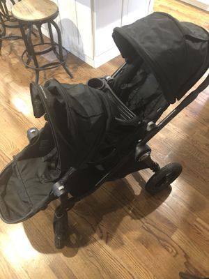 City select baby jogger double stroller and infant bracket for Sale in Brielle, NJ
