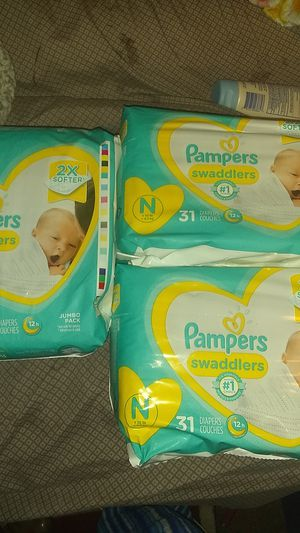 PAMPERS NEWNORN 3 PACKS OF 31 for Sale in Mesa, AZ
