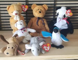 3PC LOT OF RETIRED TY BEANIE BABY FUZZ FORTUNE AND HOPE PLUS SOME EXTRAS for Sale in Fontana, CA