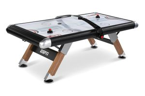 ESPN Belham Collection 8 Ft. Air Powered Hockey Table with Overhead Electronic Scorer and Table Cover, Black for Sale in Clifton, NJ