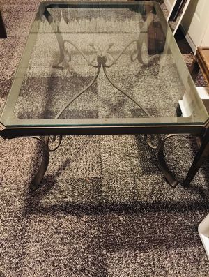 Wrought iron and beveled glass coffee table for Sale in St. Louis, MO