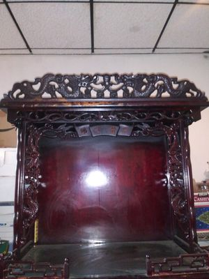 Antique China Red Wood Buddhism Praying Temple for Sale in Los Angeles, CA