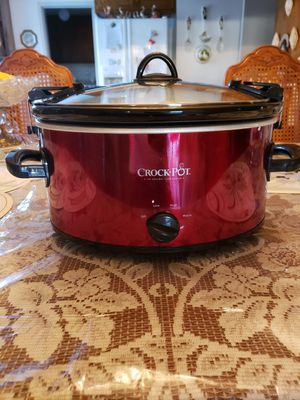 Crock-Pot SCCPVL600-R Cook' N Carry 6-Quart Oval Manual Portable Slow Cooker for Sale in Whittier, CA