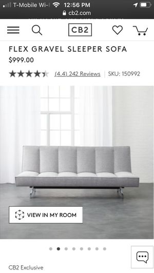 CB2 Flex Gravel Sofa Sleeper for Sale in New York, NY