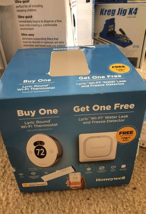 Honeywell Lyric Round Wi-Fi Thermostat & Wi-Fi Water Leak & Freeze Detector for Sale in Columbus, OH