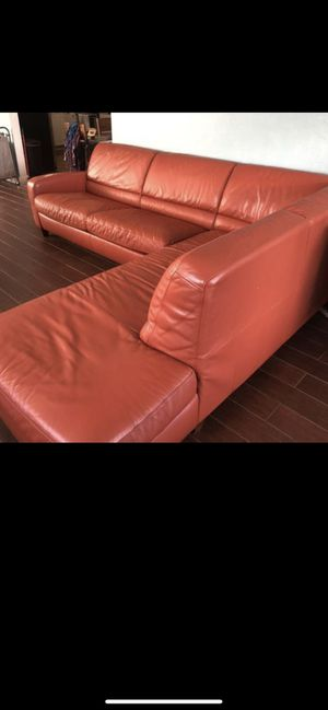 Sepcional sofa bed leather for Sale in Miami, FL