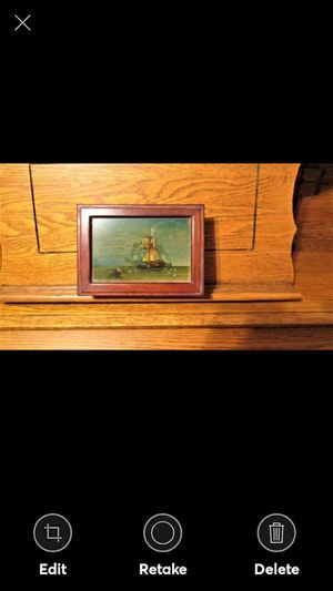 VINTAGE Reverse Painted On Glass Sailing Ship Box Wooden for Sale in Lynchburg, VA