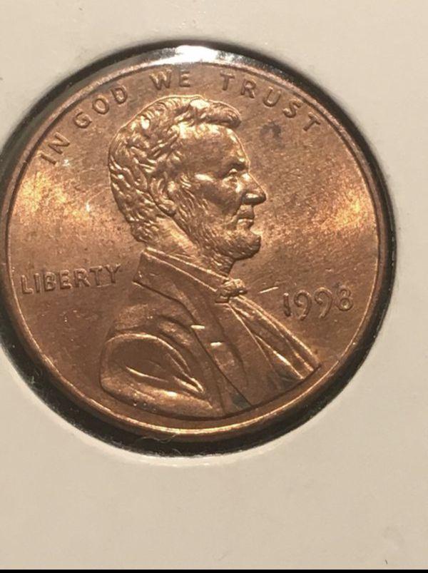 1998 WAM (Wide AM) Lincoln Cent -ERROR