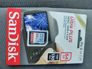 SanDisk ultraplus SD card 64gb new(( not the micro SD card)) for Sale in Modesto, CA