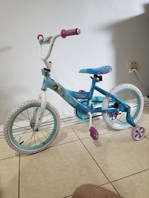 "Girl's nightHuffy 16"" bike by Disney's Frozen bicicleta de Disney for Sale in Miami, FL"