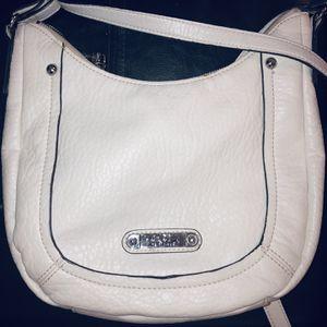 Nicole Miller vegan leather Purse, pure white for Sale in Centreville, VA