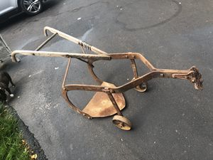 Vintage horse pulled hand plow. From the 1870's. Rare 2 wheeler. for Sale in Medina, OH