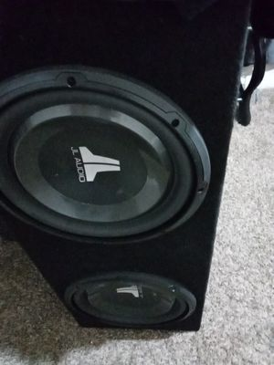 JL Audio subwoofers with box for Sale in Stockton, CA