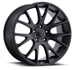 """22"""" DODGE HELLCAT Style Rims Package New Replica Wheels & Tires ANY FINISH Machine Black • Gloss Black • Matte Black Rims & Tires Only $1299 for Sale in La Habra Heights, CA"""