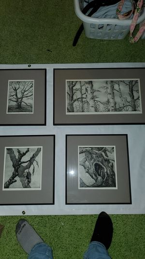 Charcoal nature prints (trees) (4 total) for Sale in Oak Park, MI