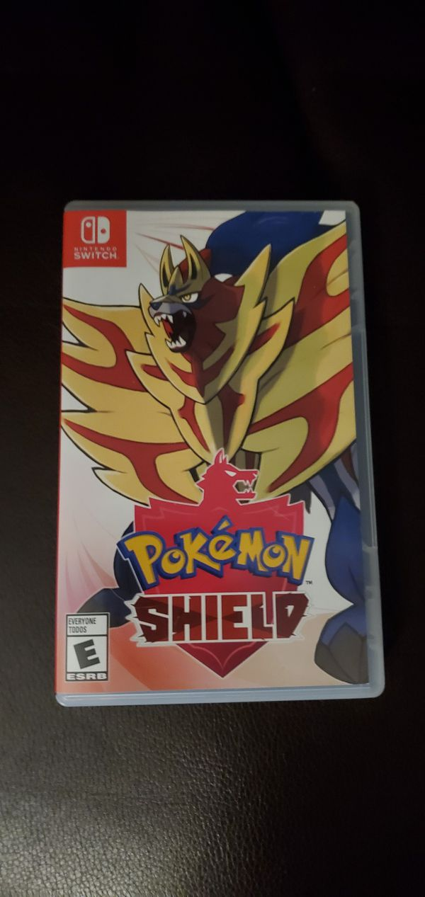 Nitendo Switch (v2) with Pokémon Shield and screen protector